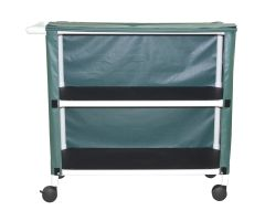 2-shelf linen cart with mesh or solid cover casters