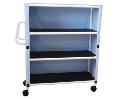 3-shelf linen cart with mesh or solid cover casters