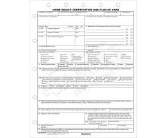 Home Health Certification and Plan of Care Form