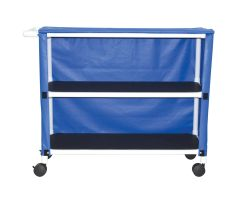 2-shelf jumbo linen cart with mesh or solid vinyl cover casters