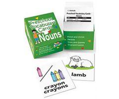 Preschool Vocabulary Cards: Nouns