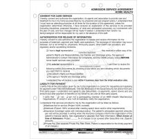 Admission Service Agreement Form for Home Health