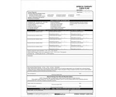 Speech Therapy Care Plan 3596/2P-11