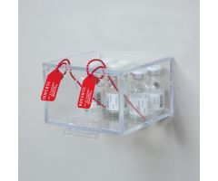 Half-Size Security Box w/ Security Seal Holes