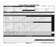 PT Daily Service & Treatment Grid 5-Part Form