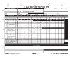 OT Daily Service & Treatment Grid 5-Part Form