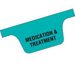 Chart Divider Tab - Medication & Treatment - Paper - Bottom