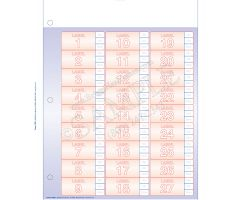 Charge Card Labels for Resource Bar Code System