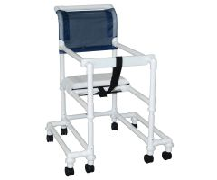 """18"""" internal width anti-tip outriggers twin casters height adjustable, for residents / patients"""