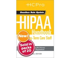 HIPAA Handbook for Long-Term Care Staff