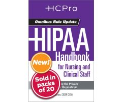 HIPAA Handbook for Nursing & Clinical Staff4712