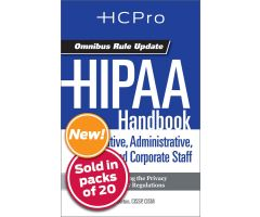 HIPAA Handbook for Nursing & Clinical Staff4719