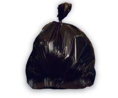 Trash Bag Heritage 12 to 16 gal. Black LLDPE 0.50 Mil. 24 X 32 Inch Star Seal Bottom Flat Pack