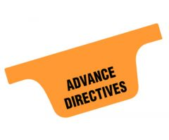 Chart Divider Tab - Advance Directives - Paper - Side