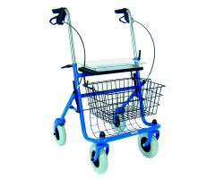 DMI  Traditional Steel Rollator Walker with Padded Seat