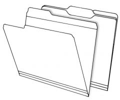 Top Tab File Folders - Manila - 1/3 Cut Tab