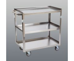 Stainless Steel Utility Cart, 3-Shelf