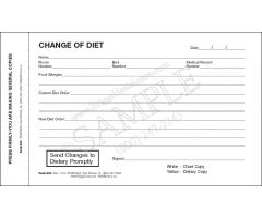 Change of Diet Form 2-Part