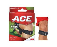 3M ACE Knee Brace, with Strap, One Size Adjustable, Black