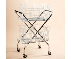 "Folding Wire Cart with 12"" Baskets"