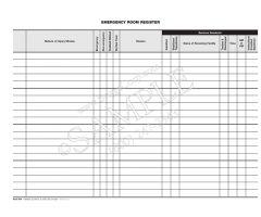 Emergency Room Register Sheet