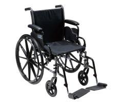 Lightweight Wheelchair Cruiser III Dual Axle Full Length Arm Flip-583297