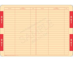 Out Card for End-Tab Filing System