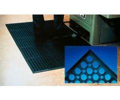 Anti-Fatigue Floor Mat WorkRite 3 X 5 Foot Black Rubber