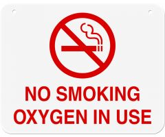 "Sign - No Smoking Oxygen In Use - 10"" x 8"""