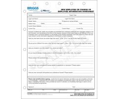 New Employee/Change of Information Worksheet
