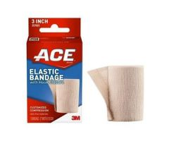 "3M ACE Elastic Bandage, with Hook Closure, 3""Tan"