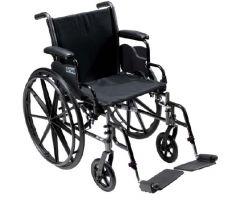 Lightweight Wheelchair Cruiser III Dual Axle Full Length Arm Flip-705194
