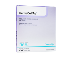 "DermaCol Ag Collagen Matrix Wound Dressing With Silver - 4"" x 4"""