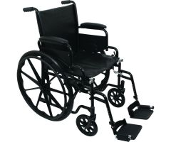 "ProBasics K1 Standard Wheelchair - 16"" x 16"" - Swing Away Footrests"