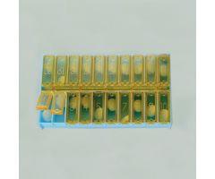Narcotic Dispenser Lid, 20 Count, 400 Pack, Amber