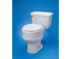 Ableware Hinged Elevated Toilet Seat Elongated by Maddak