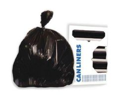 Trash Bag Heritage 33 gal. Black HDPE 16 Mic. 33 X 40 Inch Star Seal Bottom Coreless Roll