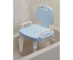 Ableware Adjustable Shower Seat with Arms and Back-Blue