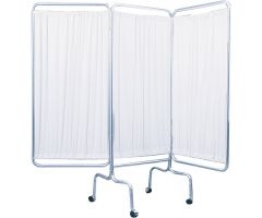 3 Panel Privacy Screen w/Casters Drive
