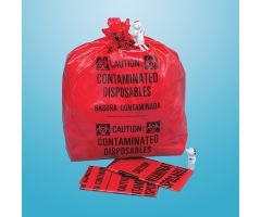 Biohazard Bags - X-Large, 33-Gallon, 20 x 39 x 12-1/4