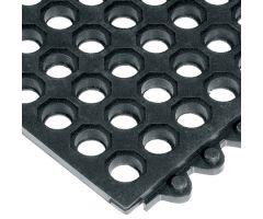 Anti-Fatigue Floor Mat 24/Seven 3 X 3 Foot Black Grease Resistant Rubber