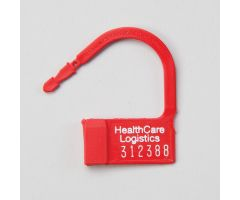 Heavy-Duty Padlock Seals, Numbered, Red