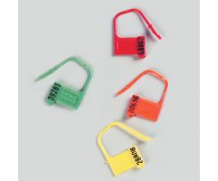 Heavy-Duty Padlock Seals, Numbered, Orange