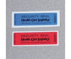 Self-Adhesive Tamper-Indicating Seals, Removable Adhesive - Blue