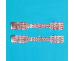 Short Tamper-Indicating Syringe Seals with Preprinted Messages
