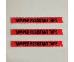 "Tamper Resistant Tape, Red, 1/2""W x 108'"