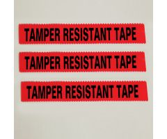 "Tamper Resistant Tape, Red, 1""W x 108'"