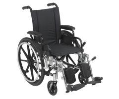 Lightweight Wheelchair drive Viper Dual Axle Desk Length Arm Flip-804790