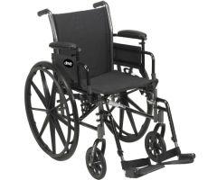 Lightweight Wheelchair Cruiser III Dual Axle Desk Length Arm Flip-805040
