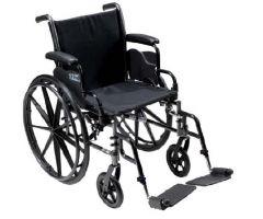 Lightweight Wheelchair Cruiser III Dual Axle Full Length Arm Flip-805612